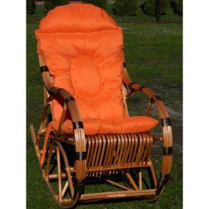 fotel-bujany-z-wikliny-z-kija-czarny-poduszka-pomarańcz (1)