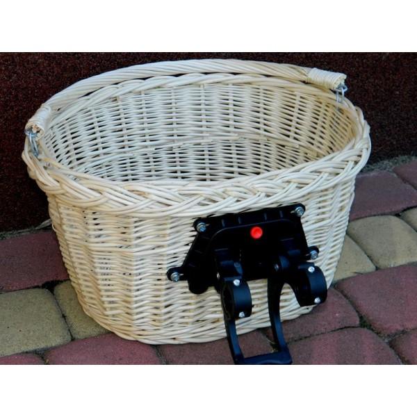 b5253bcae23986 Koszyk rowerowy przedni CLICK - Wiklinowe Cuda