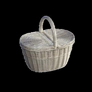 BIAŁY koszyk na zakupy piknikowy piknik DUŻY