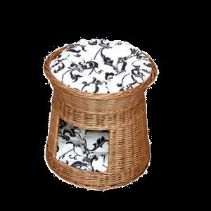 budka z wikliny - legowisko dla psa kota
