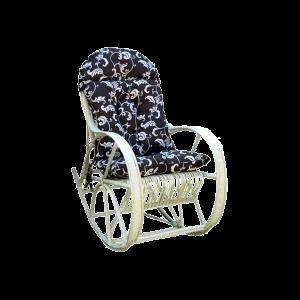 bujak - fotel bujany z wikliny - duży z poduszką
