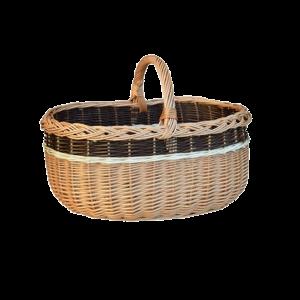 Duży koszyk na zakupy WIKLINOWY z wikliny piknik