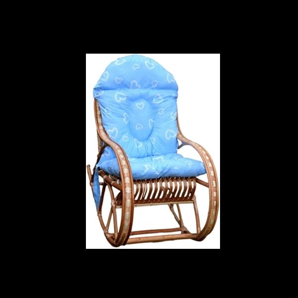 Fotel Dla Dziecka Bujak Wiklinowy Poduszka Niebieska Z Sercami