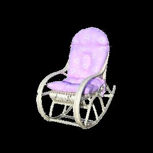 Fotel bujany dla dziecka RÓŻNE PODUSZKI BIAŁY