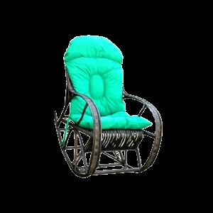 Fotel bujany z wikliny BUJAK WENGE B.DUŻY +poducha