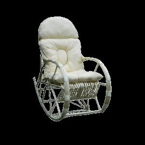 fotel bujany z wikliny - duży z poduszką