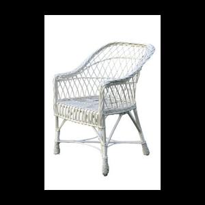 krzesło z wikliny białe