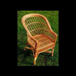 Fotel wiklinowy REGAN Z WIKLINY krzesło z wikliny