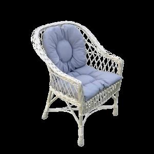 Fotel wiklinowy Z WIKLINY BIAŁY + poduszki różne