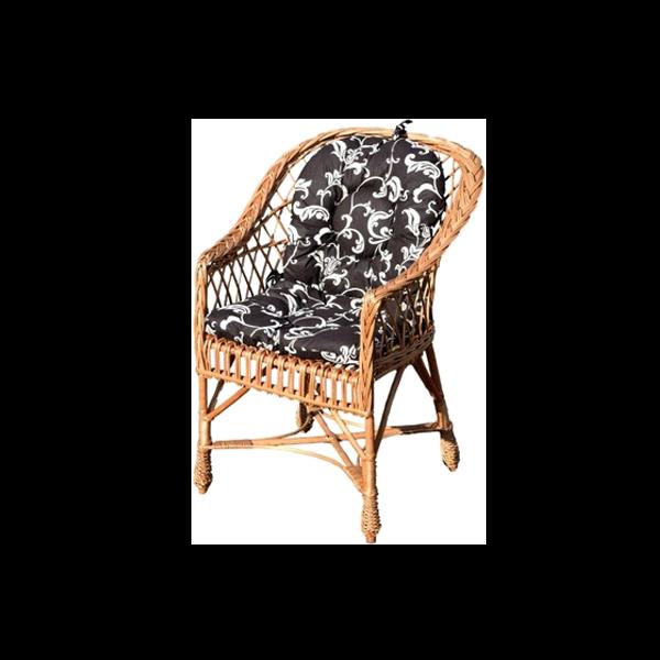 Fotel Wiklinowy Z Wikliny Krzesło Poduszki Różne Wiklinowe Cuda