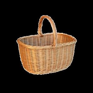 Kosz na zakupy KOSZYK NA GRZYBY koszyk z wikliny
