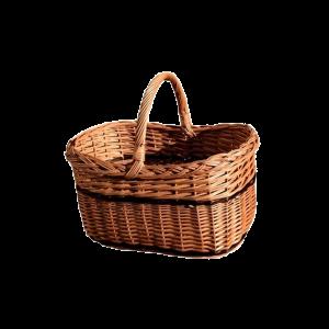 Koszyk kosz na zakupy WIKLINOWY z wikliny piknik
