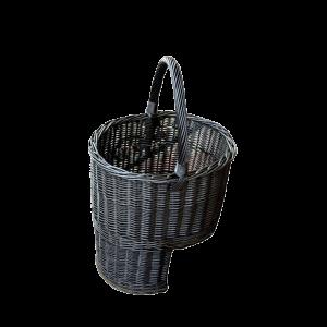 Koszyk na drewno do KOMINKA schodowy XL WENGE