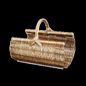 Koszyk na drewno do kominka KOMINEK z wikliny CUDO