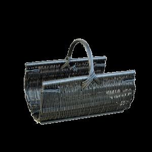 Koszyk na drewno do kominka KOMINEK z wikliny DUŻY