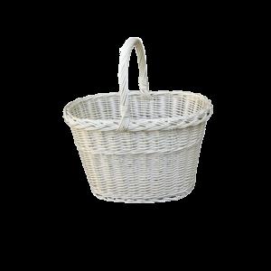 Koszyk na zakupy WIKLINOWY z wikliny prezent BIAŁY