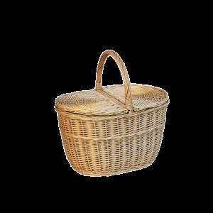 Koszyk na zakupy piknikowy z wikliny piknik DUŻY