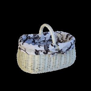 Koszyk na zakupy z wikliny DUŻY piknik + obszycie