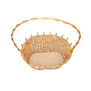 Koszyk prezentowy z wikliny KWIATY prezent kosz