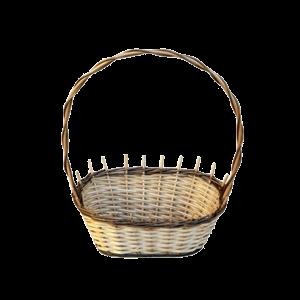 Koszyk prezentowy z wikliny NA ŚLUB prezent mały dwukolorowy