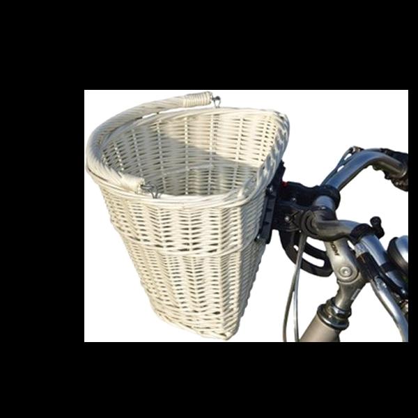 Koszyk wiklinowy na ROWEROWY click POLSKI BIAŁY