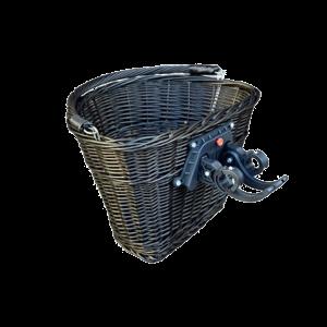 Koszyk wiklinowy na ROWEROWY rower click WENGE