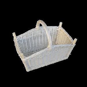 Koszyk wiklinowy na pranie bielizne drewno DUŻY