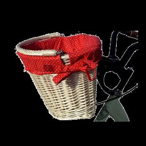 Koszyk wiklinowy rowerowy click ROWER +wkład 10kol
