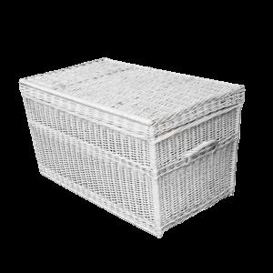 Kufer wiklinowy prosty KUFEREK z wikliny 100 biały