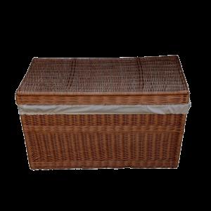 Kufer wiklinowy prosty KUFEREK z wikliny 90 cm