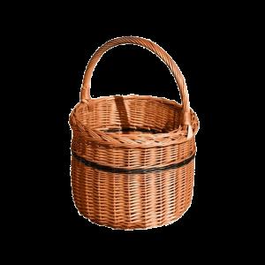 OKRĄGŁY koszyk na zakupy WIKLINOWY z wikliny DUŻY