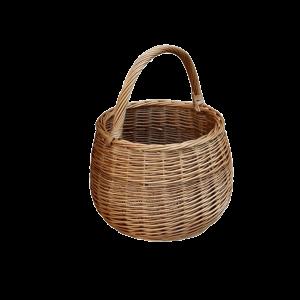 OKRĄGŁY koszyk na zakupy z wikliny PRODUCENT