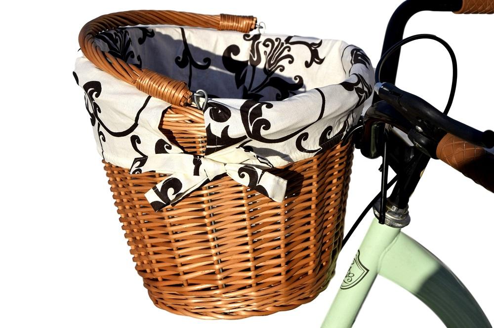 KOSZYK NA ROWER z wikliny rowerowy z wkładem 16 kolorów