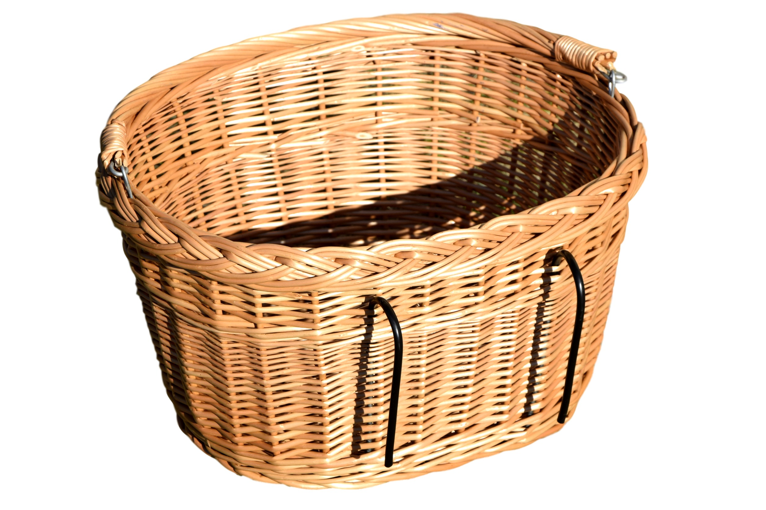 Koszyk na rower - naturalna wiklina