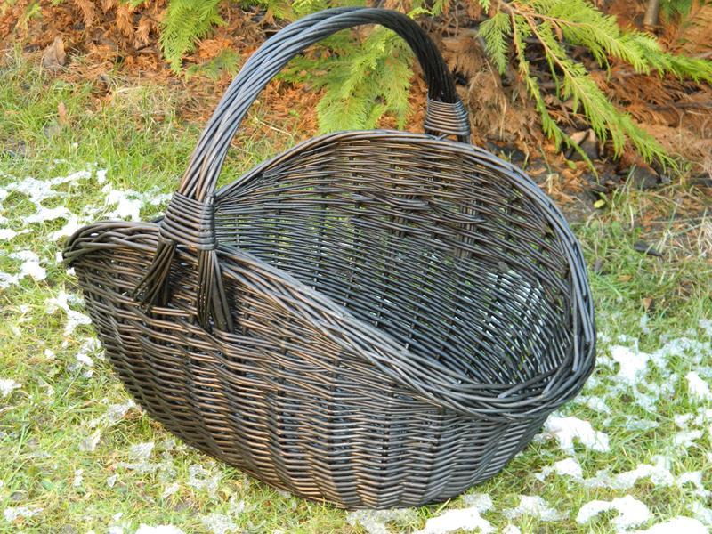 Koszyk wiklinowy na drewno do kominka KOMINKOWY XL