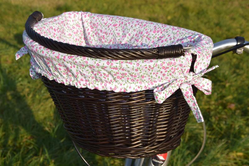 Koszyk wiklinowy na Rower click POLSKI + wkład 14 kolorów