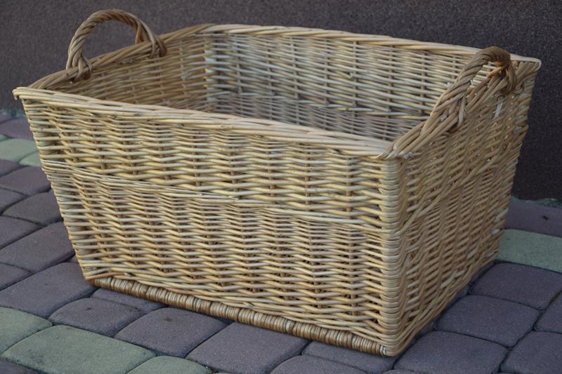 Koszyk wiklinowy na pranie bielizne ZABAWKI DUŻY