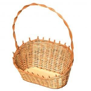 kwiatowy koszyk z wikliny