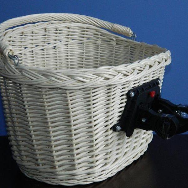 b60100a029f4cb KOSZYK ROWEROWY z wikliny BIAŁY click rower klick - Wiklinowe Cuda