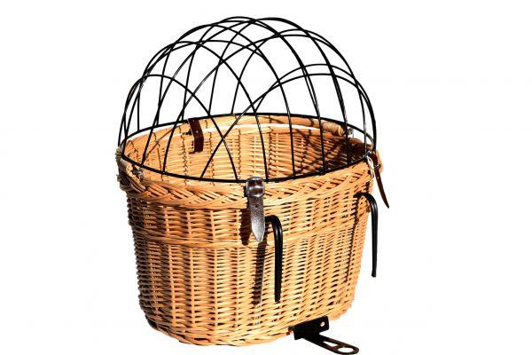 wiklinowy koszyk na rower dla psa dla kota
