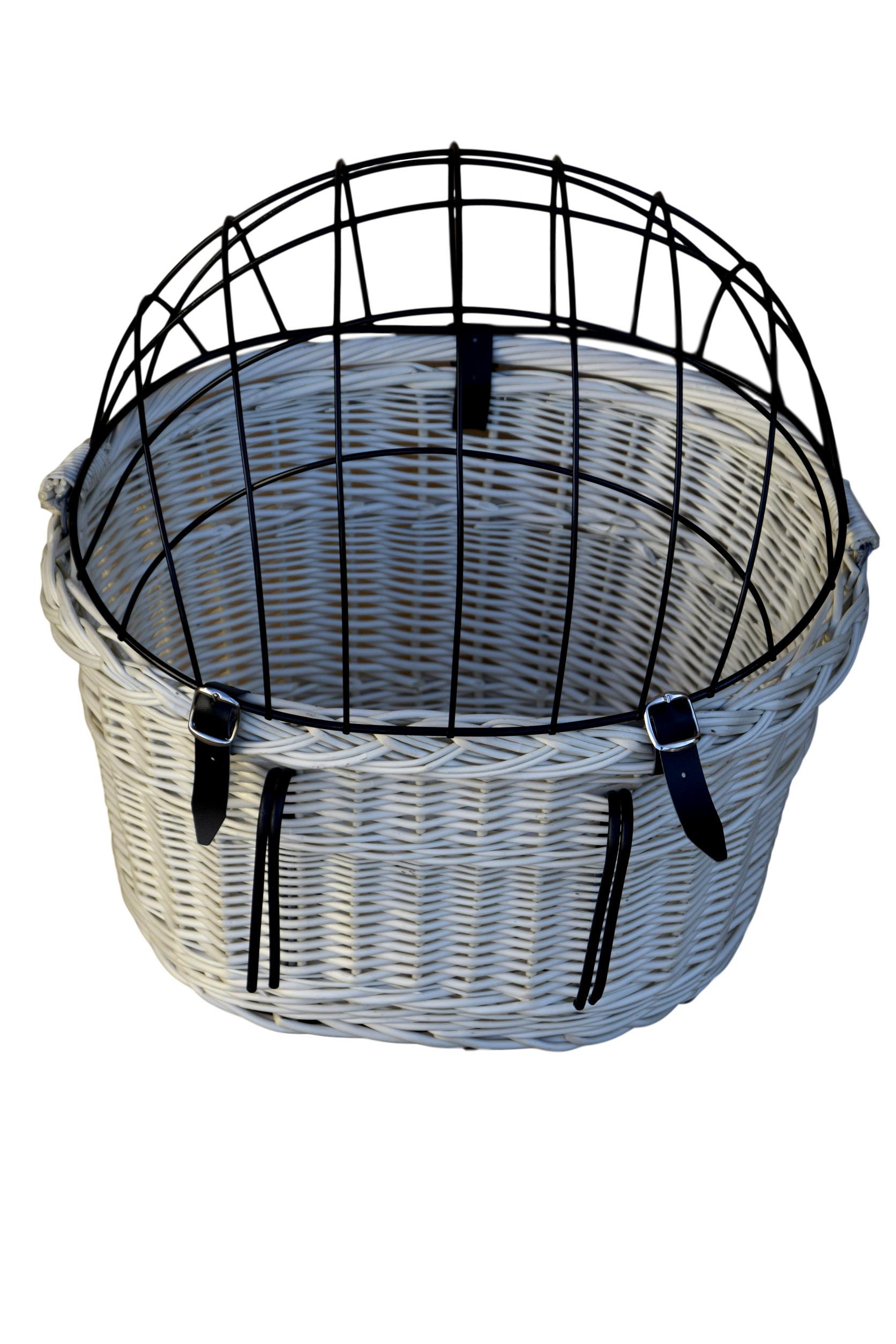 Wiklinowy koszyk na ROWER DUŻY dla kota psa