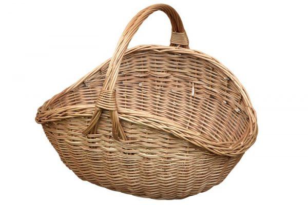 wiklinowy koszyk na drewno