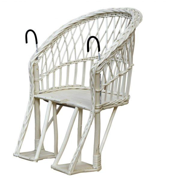 wiklinowy fotelik na rower