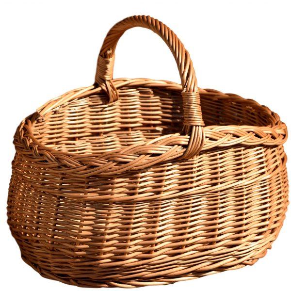 kosz wiklinowy piknikowy na zakupy