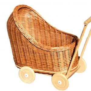 wózek dla laleczek z wikliny