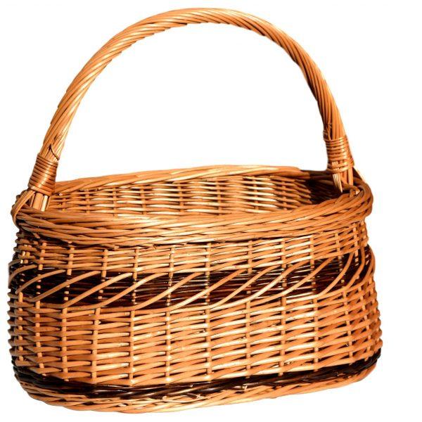 koszyk wiklinowy na zakupy