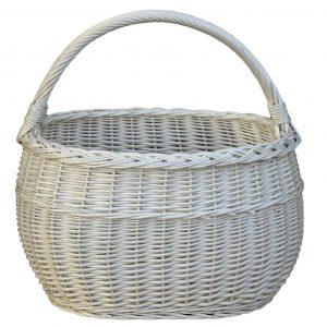 koszyk na zakupy z wikliny