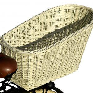 koszyk z wikliny na bagażnik