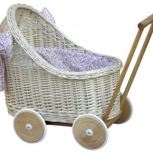 wózek lalka wiklina