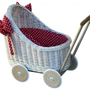 wyklinowy wózek dla lalek